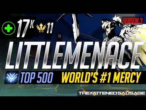 [Top 500] World's #1 Mercy LittleMenace's Incredible Game vs Harbleu & Fahzix
