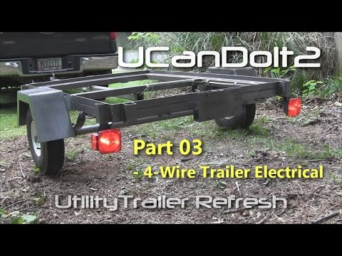 Utility Trailer 03 - 4 Pin Trailer Wiring and Diagram