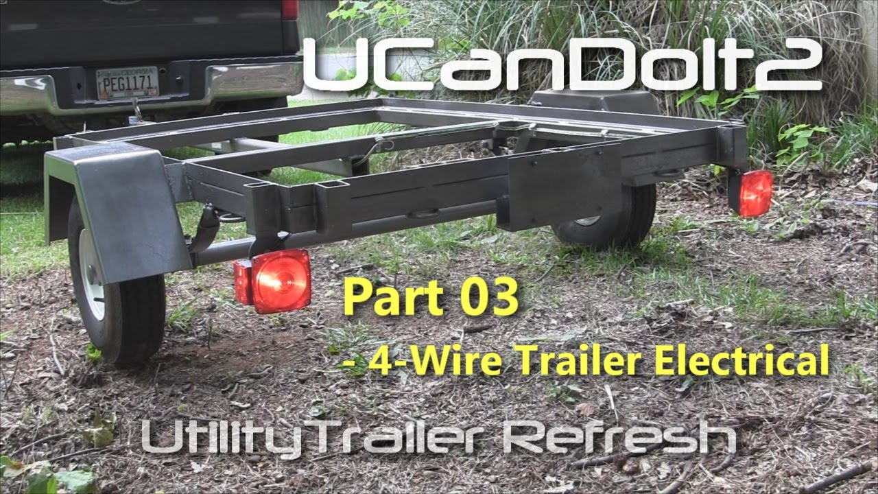 utility trailer 03 4 pin trailer wiring and diagram youtube rh youtube com  flat 4 trailer plug wiring diagram