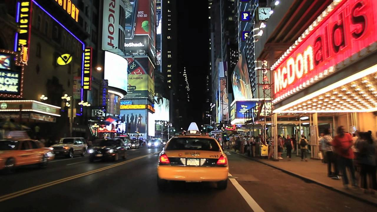 New York City  Times Square Night Tour  YouTube