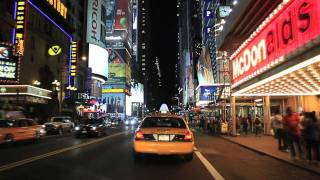 New York City & Times Square Night Tour(This video takes you into the streets of Manhattan (New York City) via the Lincoln Tunnel, the world's busiest tunnel, and then back into New Jersey across the ..., 2011-11-22T12:22:47.000Z)