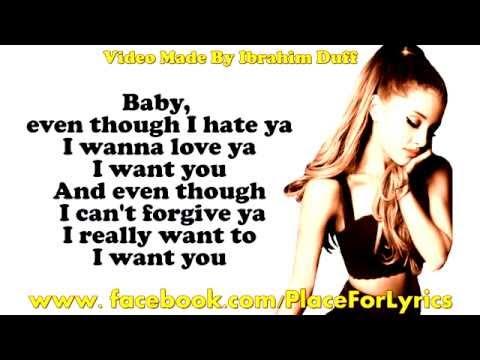 Ariana Grande Problem Lyrics On Screen