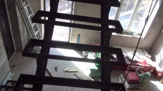 Лестница ( металлический каркас )(На металлический каркас , прикрепятся на шурупы ступеньки из клееного дуба а все остальное зашьется парк..., 2013-10-09T09:56:54.000Z)