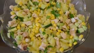 Рецепт салат с курицей I Про учебу на журфаке
