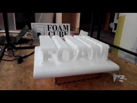 Foamcube demo cut - multi axies foam cutter hotwire
