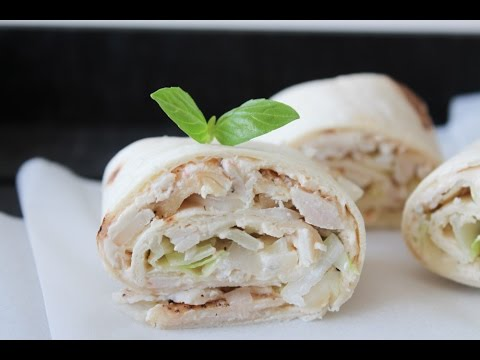How To Make Chicken And Cream Cheese Flour Tortilla Rolls - By One Kitchen Episode 301