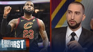 Nick and Cris react to the Cavaliers eliminating the Raptors | NBA | FIRST THINGS FIRST