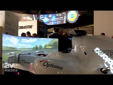 ISE 2016: Annabelle Kayye Takes a Ride in the Optoma Racecar