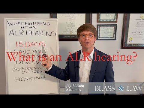 What is an ALR Hearing?