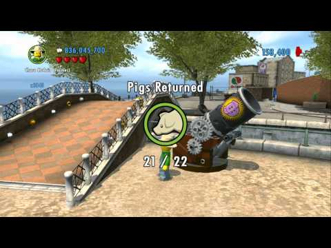 LEGO City Undercover 100% Guide - Fresco (Overworld Area) - All Collectibles