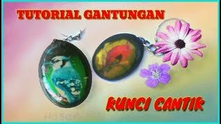 Tutorial cara membuat gantungan kunci cantik Part 2 resin jewelry