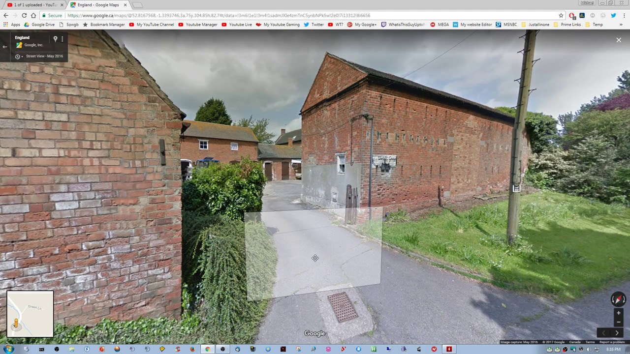 Google Street View: Visiting Diseworth England