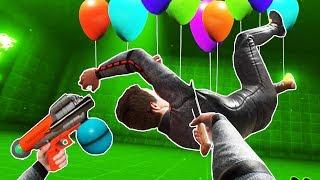 I Go Crazy with the Balloon Gun and a Machete in Boneworks VR Sandbox!