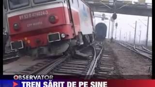 Tren deraiat langa Dej 14 Jan 2011