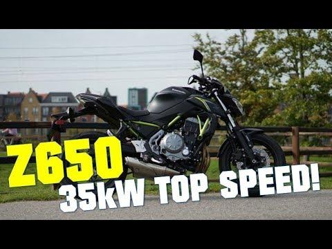 Kawasaki Z650 Top Speed 35kw A2 Youtube
