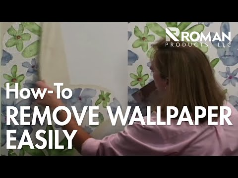 wallpaper how to remove old wallpaper doovi. Black Bedroom Furniture Sets. Home Design Ideas