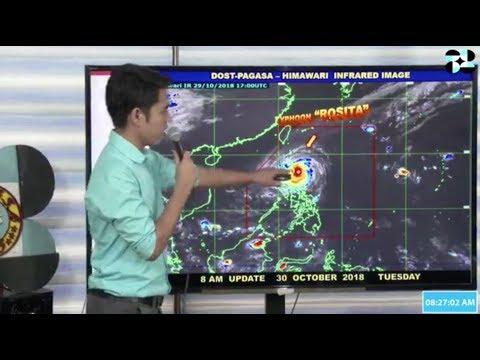 Pagasa's 8 a.m. weather update on typhoon 'Rosita'