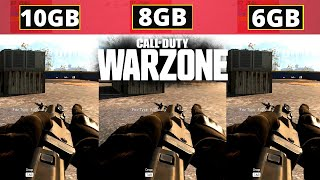 Call of Duty Warzone\Modern Warfare   6gb vs 8gb vs 10gb   Ram Test