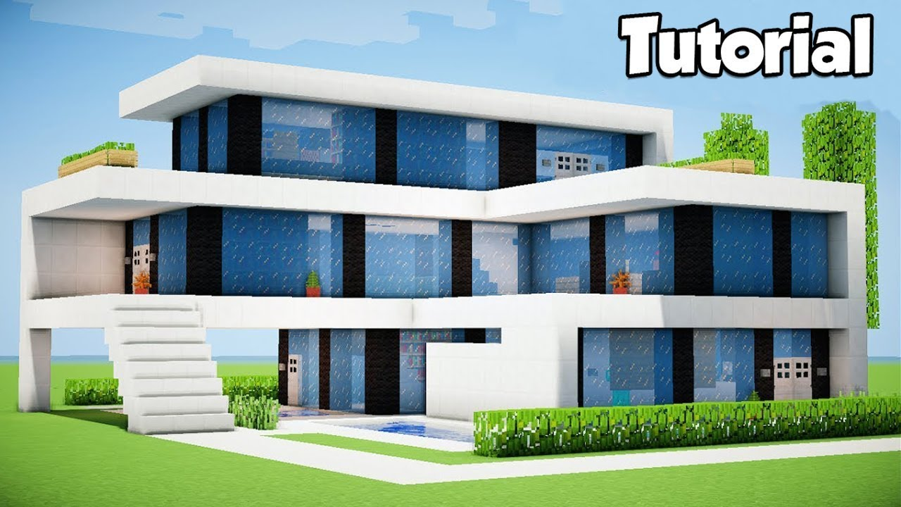 Minecraft  How To Build A Large Modern House - Tutorial   6