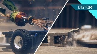 Robot Destruction in Slow Motion!