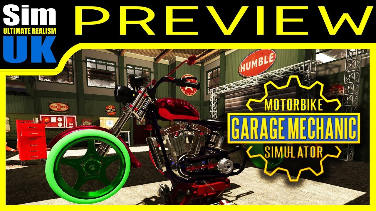 Motorbike Garage Mechanic Simulator Preview Review Pc