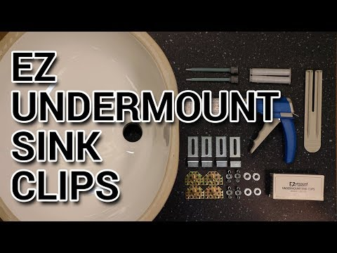 how-to-install-ez-undermount-sink-clips-&-strength-test!
