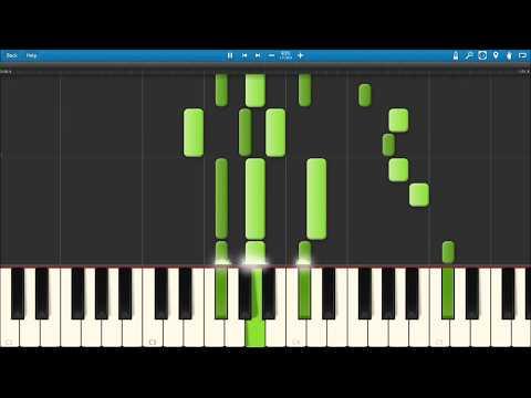 GHALI - Cara Italia (Synthesia Piano Tutorial)