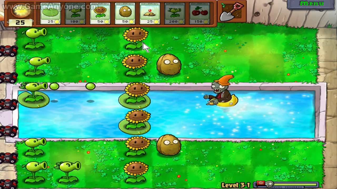 Plants Vs Zombies Hd Level 3 1 Youtube