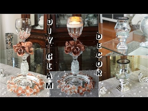DIY DOLLAR TREE $7 GLAM WEDDING CENTERPIECE | $2 GLAM CANDLE HOLDER | DIY EASY & CHEAP DECOR 2019