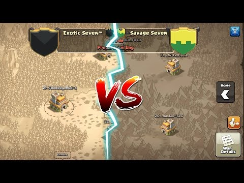 Clash of ClansSavage seven VS exotic seven the perfect war