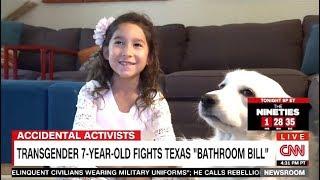 """Transgender 7 Yr Old Fights Texas """"Bathroom Bill"""" (CNN)"""