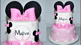 Cake decorating tutorials | how to make a DISNEY MINNIE MOUSE Cake | Sugarella Sweets
