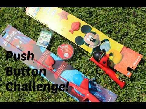 Mini Push Button Walmart Fishing Kits Challenge!