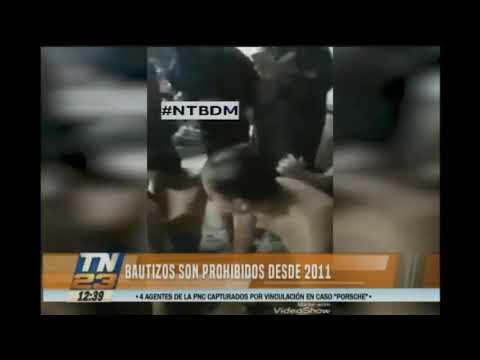 Bautizos son prohibidos desde el 2011