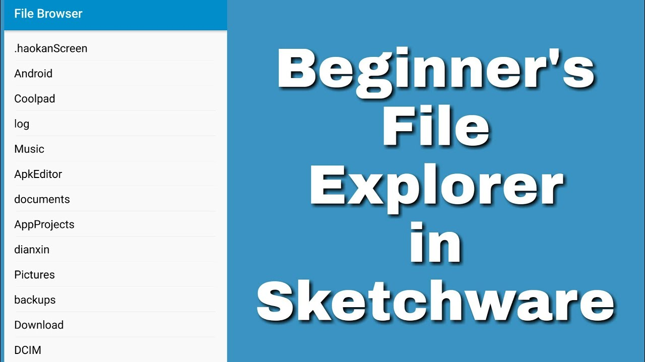 Simple file browser in Sketchware