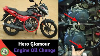 How to Change the Engine Oil in Hero Glamour || Best Engine oil Valvoline
