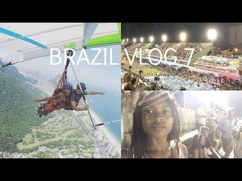 Brazil Travel Vlog 7 | IVHQ | Solo Travel | Hang gliding! | Sambadrome | Carnival
