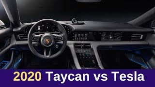 A Striking Difference Between 2020 Porsche Taycan and Model S Interiors