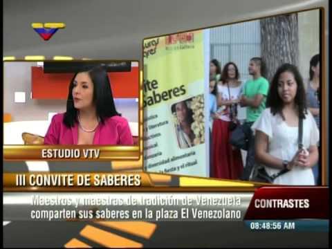 Invitan a III Convite de Saberes en Plaza El Venezolano