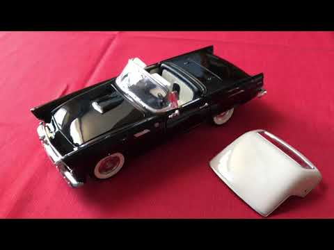Review of 1955 Ford Thunderbird by Yatming (Scale 1/18)