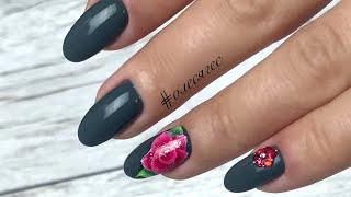 🌺 ИЗ инста: Маникюр к 8 марта, розы на ногтях, дизайн ногтей весна 2018