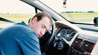Car driver asleep at the wheel / Car crash compilation July  2015