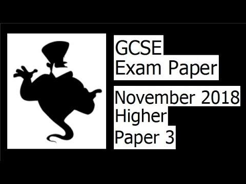 Edexcel GCSE Maths November 2018 3H Exam Paper Walkthrough thumbnail