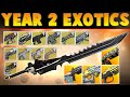 Destiny YEAR 2 - ALL EXOTIC WEAPONS - The Taken King Gameplay