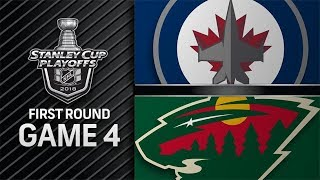 NHL 18 PS4. 2018 STANLEY CUP PLAYOFFS FIRST ROUND GAME 4 WEST: JETS VS WILD. 04.17.2018. (NBCSN) !