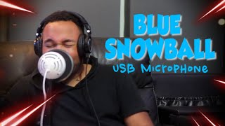 Blue Snowball ICE USB Condenser Microphone Test/Review [Rap, singing & guitar]
