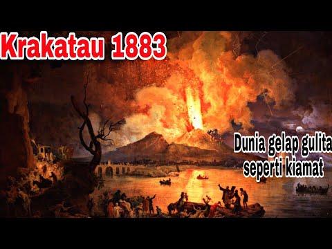 1883 Krakatau Meletus Memisahkan Pulau Jawa Dan Pulau Sumatera