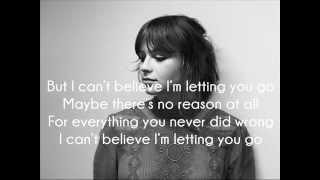 Letting You Go - Gabrielle Aplin (Lyrics)