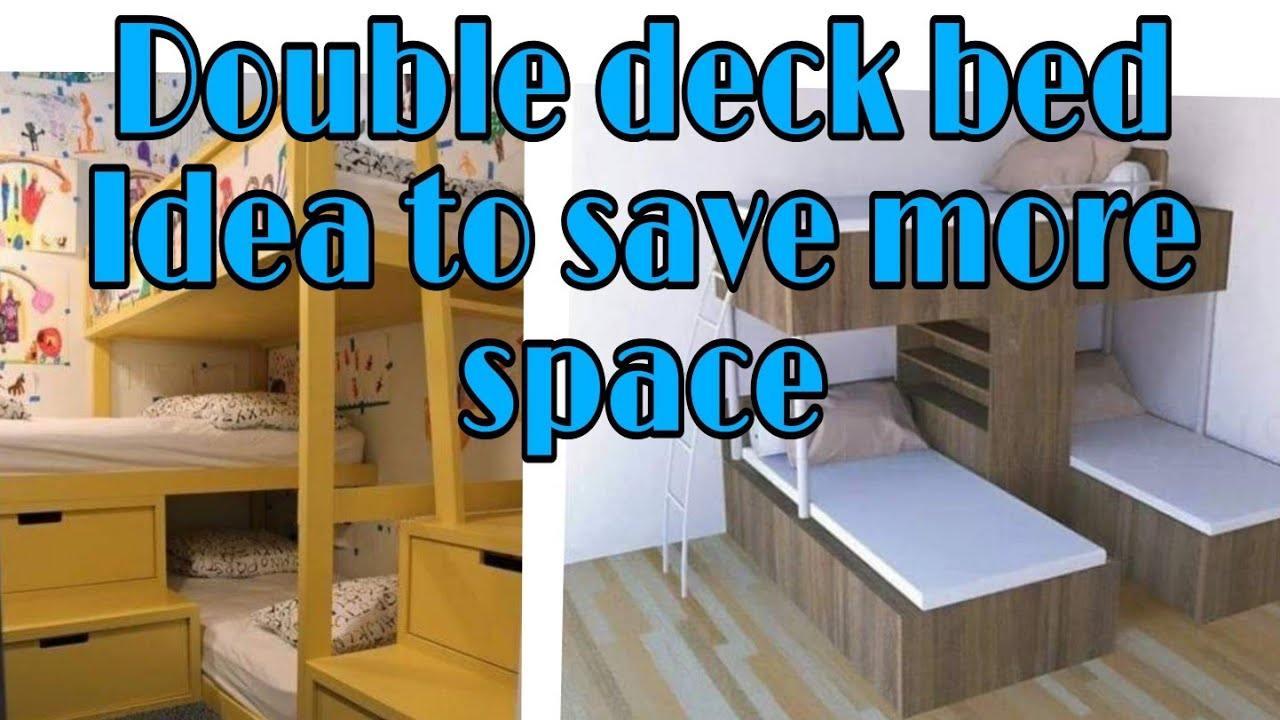 Double Deck Bed Design Idea For Small Bedrooms 2020 Space Saving Youtube