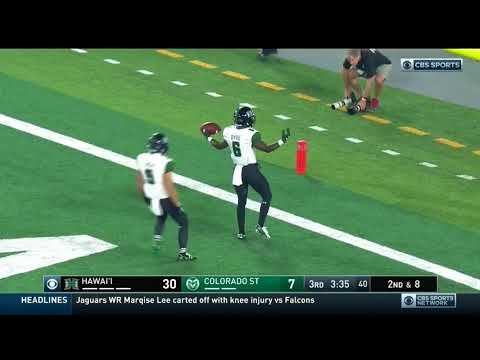 WEEK ZERO HIGHLIGHTS - Hawai'i Rainbow Warriors at Colorado State Rams
